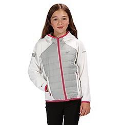 Regatta - Cream and white kielder hybrid softshell jacket