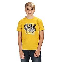 Regatta - Yellow bosley short sleeved t-shirt
