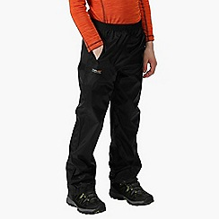 Regatta - Kids black 'Pack It' over trousers