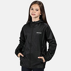 Regatta - Black kids 'pack it' waterproof jacket