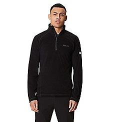 Regatta - Black 'Montes' half zip fleece