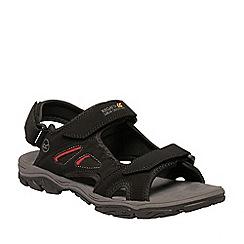 Regatta - Black Holcombe vent sandals