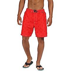 Regatta - Red 'Hadden' board shorts