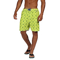 Regatta - Green 'Hadden' board shorts