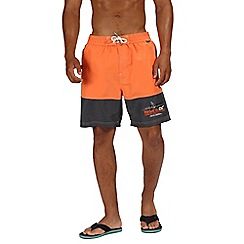 Regatta - Orange 'Bratchmar' swim shorts