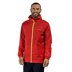 Regatta - Red 'Pack It' waterproof jacket