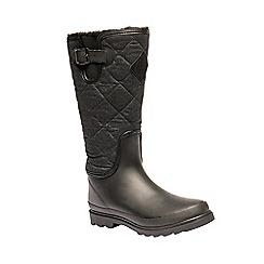 Regatta - Black 'lady fleetwood' wellington boots
