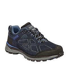 Regatta - Blue 'lady samariis' suede walking shoes