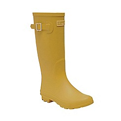 Regatta - Yellow 'lady fairweather' wellington boots