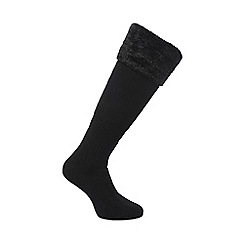 Regatta - Women's Fur Collar Wellington Socks