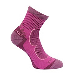 Regatta - Purple & pink 'Active' pack of two socks