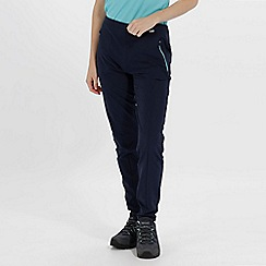 Regatta - Blue 'Pentre' Stretch Trousers Shorter Length