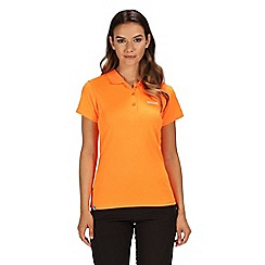 Regatta - Orange 'Maverick' polo shirt