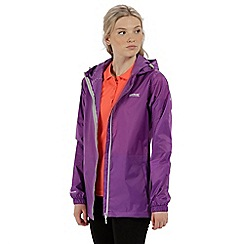 Regatta - Purple 'pack it' waterproof jacket