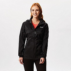 Regatta - Black 'pack it' waterproof jacket