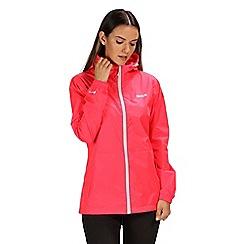 Regatta - Pink 'pack it' waterproof jacket