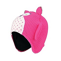 Dare 2B - Pink 'Watch Out' girls beanie hat