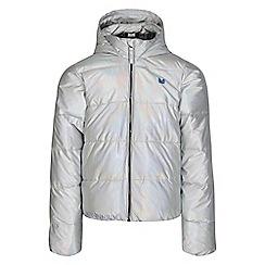 Dare 2B - Silver 'Exoteric' girls waterproof hooded jacket