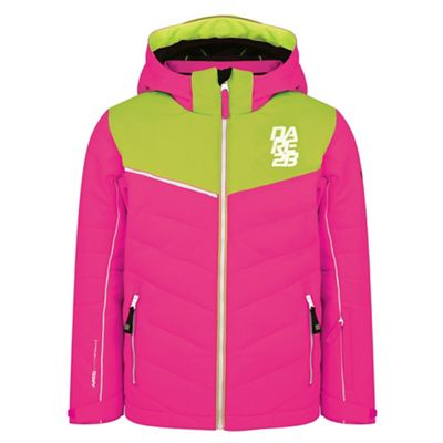 1537e2873839 Dare 2B Pink  Tusk  kids waterproof ski jacket