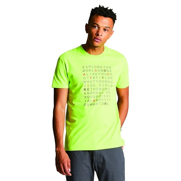 2B Dare Green t 'Verses' print shirt xvvw6f
