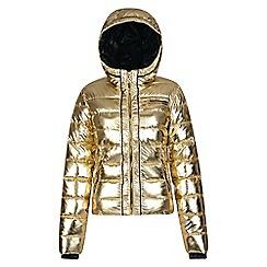 Dare 2B - Yellow 'Profusion' luxe puffa hooded jacket