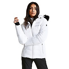 Dare 2B - Cream/white 'Cultivated' luxe waterproof ski jacket