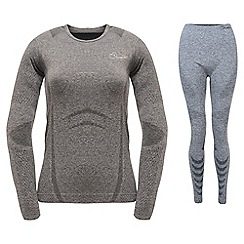 Dare 2B - Charcoal grey zonal top and legging base layer set