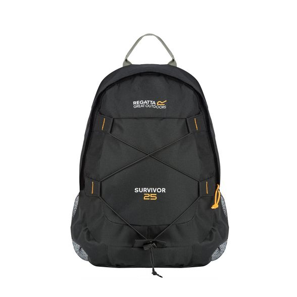 25 litre Black survivor back pack Regatta qw6Ex