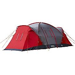 Regatta - Red and grey Atlin 6 man family tent