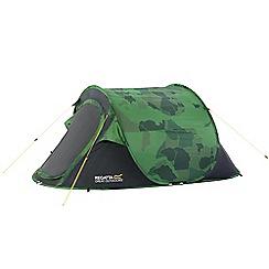 Regatta - Green Malawi print 2 man pop up tent
