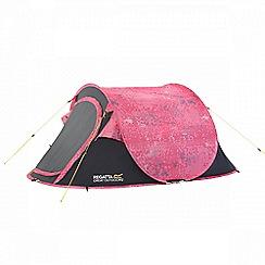 Regatta - Pink Malawi print 2 man pop up tent