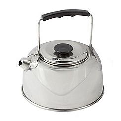 Regatta - Silver 1 litre steel kettle