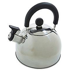 Regatta - Silver 'Whistle' 2 litre camping kettle