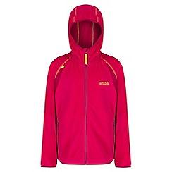 Regatta - Girls' pink Chromium fleece jacket