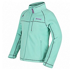 Regatta - Girls' mint green Marlin fleece jacket