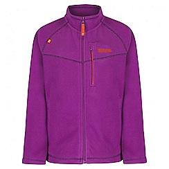 Regatta - Girls' purple Marlin fleece jacket