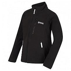 Regatta - Boys' black Marlin fleece jacket
