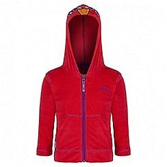 Regatta - Girls' red Kiddo fleece sweater