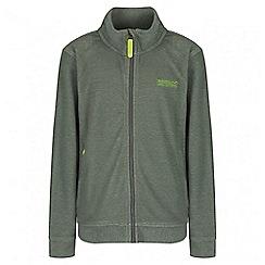 Regatta - Boys' green Harlin fleece jacket