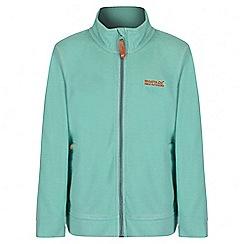 Regatta - Girls' mint green Harlin fleece jacket