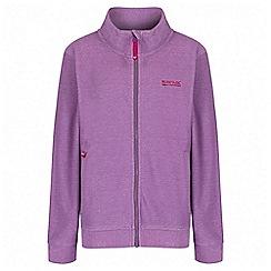 Regatta - Girls' purple Harlin fleece jacket
