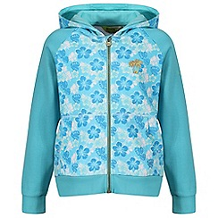 Regatta - Girls' blue 'Tetra' fleece sweater