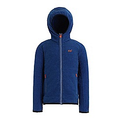 Regatta - Blue 'Totten' kids hooded fleece