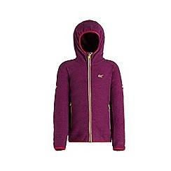 Regatta - Purple 'Totten' kids hooded fleece