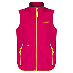 Regatta - Girls' pink Kaluga zip up bodywarmer