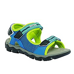 Regatta - Blue/ lime kids terrarock sandal