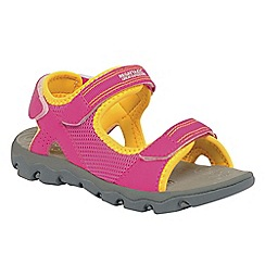 Regatta - Pink/ yellow kids terrarock sandal