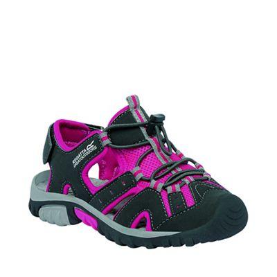 Regatta - Kids Grey/pink deckside sporty mesh sandal