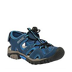 Regatta - Kids Blue/grey deckside sporty mesh sandal