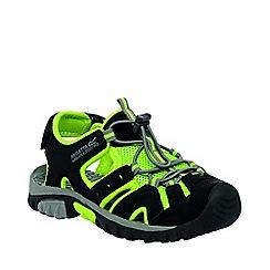 Regatta - Kids Black/green deckside sporty mesh sandal